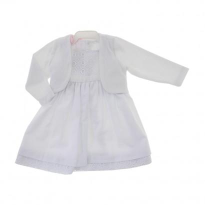 Vestido com Bolero Branco Bebe cod.8435