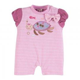 Imagem - Macacão Curto para Bebê Feminino - 6970-Macacão Curto tartaruga