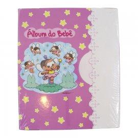 Imagem - Álbum de Bebê Turma da Mônica 60 Fotos 6362 - 6362-album-rosa