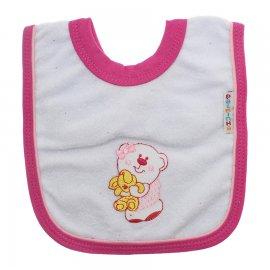 Imagem - Babador de Bebê Atoalhado - 5146-babador-branco-pink