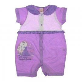Imagem - Macacão de Bebê Curto Bicho Molhado - 4607-macacao-curto-gatinha-lilas