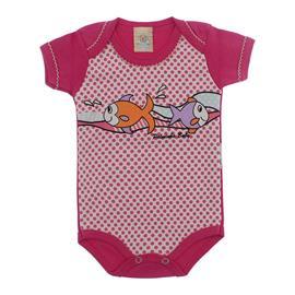 Imagem - Bebê Body Manga Curta Sae Pink - 5063 - Peixinho Pink