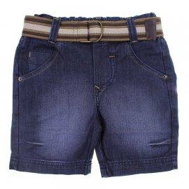 Imagem - Bermuda Jeans Infantil com Cinto - 6345-bermuda-jeans-Prega