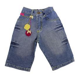 Imagem - Bermuda Jeans Infantil Mackvanny 7729 - 7729JeansLacinhos