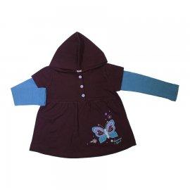 Imagem - Blusa Infantil com Capuz Bambini - 6901-Blusa Infantil com Capuz marro