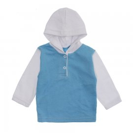 Imagem - Blusa de Moletinho com Capuz - 10134-blusa-azul-branco