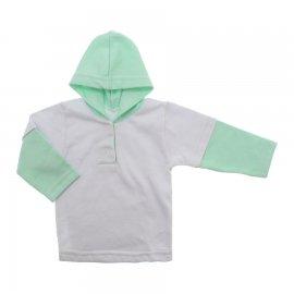 Imagem - Blusa de Moletinho com Capuz - 10134-blusa-branco-verde