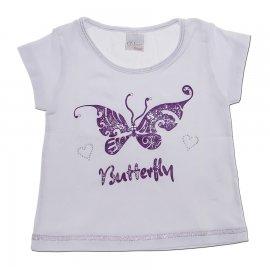 Camiseta Infantil com Borboleta Color Mini