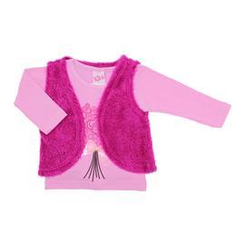Imagem - Blusa Infantil Feminina com Colete - Cod. 7855 - 7855