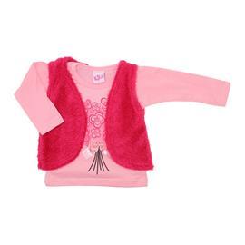 Blusa Infantil Feminina com Colete - Cod. 7855