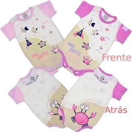 Imagem - Body de Bebê Manga Curta Korte Rekorte  - 6552-peixe rosa