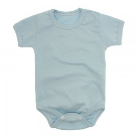 Imagem - Body Bebê Básico Ribana Lapuko - 10091-body-mc-ribana-azul-bebe