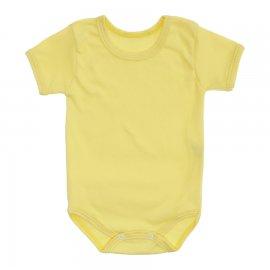 Imagem - Body Bebê Básico Ribana Lapuko - 10091-body-mc-rib-amarelo