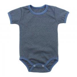 Imagem - Body Bebê Básico Ribana Lapuko - 10091-body-mc-azul-jeans-mescla