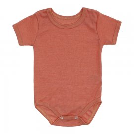 Imagem - Body Bebê Básico Ribana Lapuko - 10091-body-mc-rib.laranja