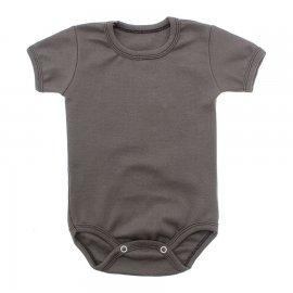 Imagem - Body Bebê Básico Ribana Lapuko - 10091-body-mc-ribana-marrom