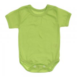 Imagem - Body Bebê Básico Ribana Lapuko - 10091-body-mc-rib-verde-limao