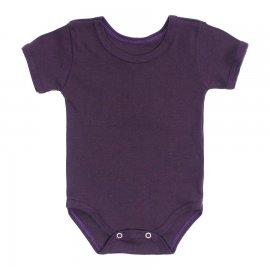Imagem - Body Bebê Básico Ribana Lapuko - 10091-body-mc-rib-vinho-escuro