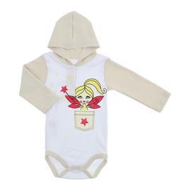 Imagem - Body Bebê com Capuz Estampado  - 10111-body-capuz-fada-bege