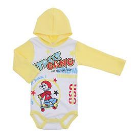 Imagem - Body Bebê com Capuz Estampado  - 10111-body-capuz-street-amarelo