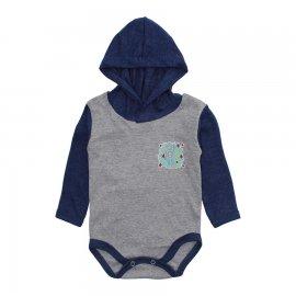 Imagem - Body Bebê com Capuz Lapuko Mescla - 10207-body-capuz-mescla-azul-mescla
