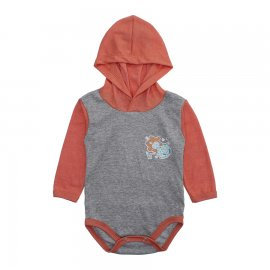 Imagem - Body Bebê com Capuz Lapuko Mescla - 10207-body-capuz-mescla-laranja
