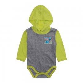 Imagem - Body Bebê com Capuz Lapuko Mescla - 10207-body-capuz-mescla-verde-reati