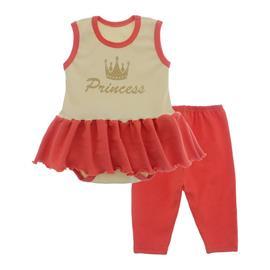 Imagem - Body Bebê com Saia e Calça Capri Lapuko - 10078-body-saia-legging-creme-laran