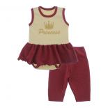 Imagem - Body Bebê com Saia e Calça Capri Lapuko - 10078-body-saia-legging-branco-verm