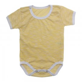 Imagem - Body Bebê em Malha Lapuko - 10184-body-mc-amarelo-mescla