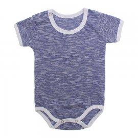 Imagem - Body Bebê em Malha Lapuko - 10184-body-mc-azul-mescla