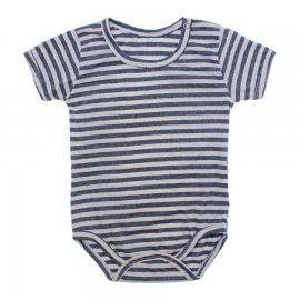 Imagem - Body Bebê em Malha Lapuko - 10184-body-mc-branco -azul