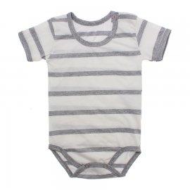 Imagem - Body Bebê em Malha Lapuko - 10184-body-mc-list-bco-mescla