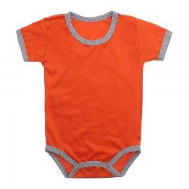 Imagem - Body Bebê em Malha Lapuko - 10184-body-mc-laranja