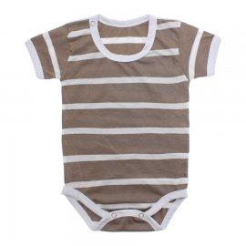 Imagem - Body Bebê em Malha Lapuko - 10184-body-mc-marrom-listrado