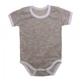 Imagem - Body Bebê em Malha Lapuko - 10184-body-mc-marrom-mescla