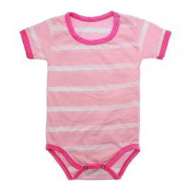Imagem - Body Bebê em Malha Lapuko - 10184-body-mc-list-rosa-bebe