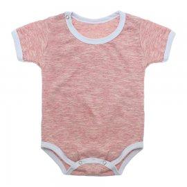 Imagem - Body Bebê em Malha Lapuko - 10184-body-mc-vermelho-mescla