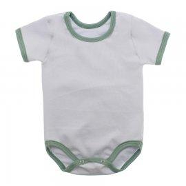 Imagem - Body Bebê em Ribana Lapuko - 10084-body-mc-rib-bco-verde