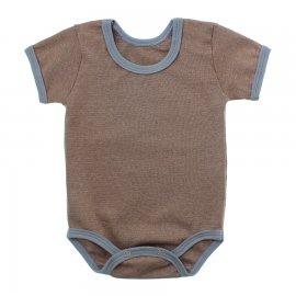 Imagem - Body Bebê em Ribana Lapuko - 10084-body-mc-rib-marrom-mescla