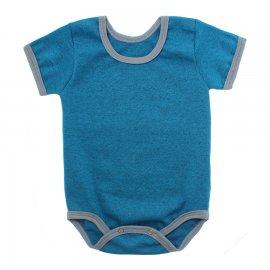 Imagem - Body Bebê em Ribana Lapuko - 10084-body-mc-rib-turquesa-mescla