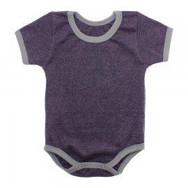 Imagem - Body Bebê em Ribana Lapuko - 10084-body-mc-rib-uva-mescla