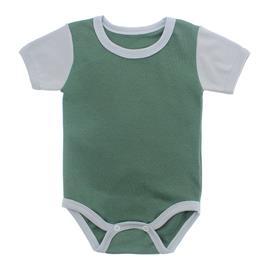 Imagem - Body Bebê em Ribana Lapuko - 10084-body-mc-verde-cinza