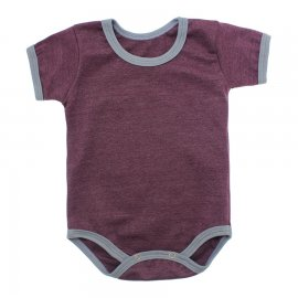 Imagem - Body Bebê em Ribana Lapuko - 10084-body-mc-ribana-vinho-mescla