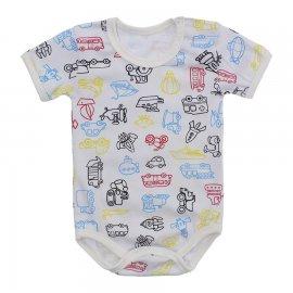 Imagem - Body Bebê Estampado Lapuko - 10212-body-carrinho-colorido