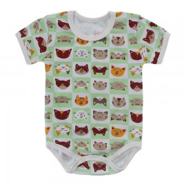 Imagem - Body Bebê Estampado Lapuko - 10212-body-gatinho-verde