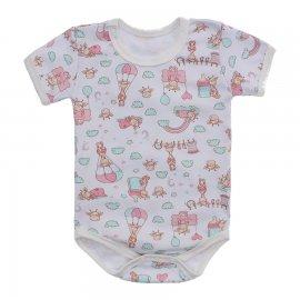 Imagem - Body Bebê Estampado Lapuko - 10212-body-girafa-rosa