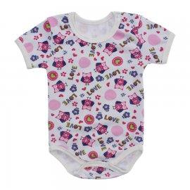 Imagem - Body Bebê Estampado Lapuko - 10212-body-love-coruja-pink