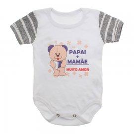 Imagem - Body Bebê Frases Lapuko - 10177-body-frases-mamae-papai-muito