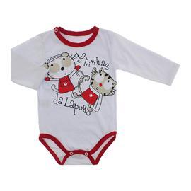 Imagem - Body Bebê para Menina Lapuko - body-ml-gatinhas-vermelho-10067